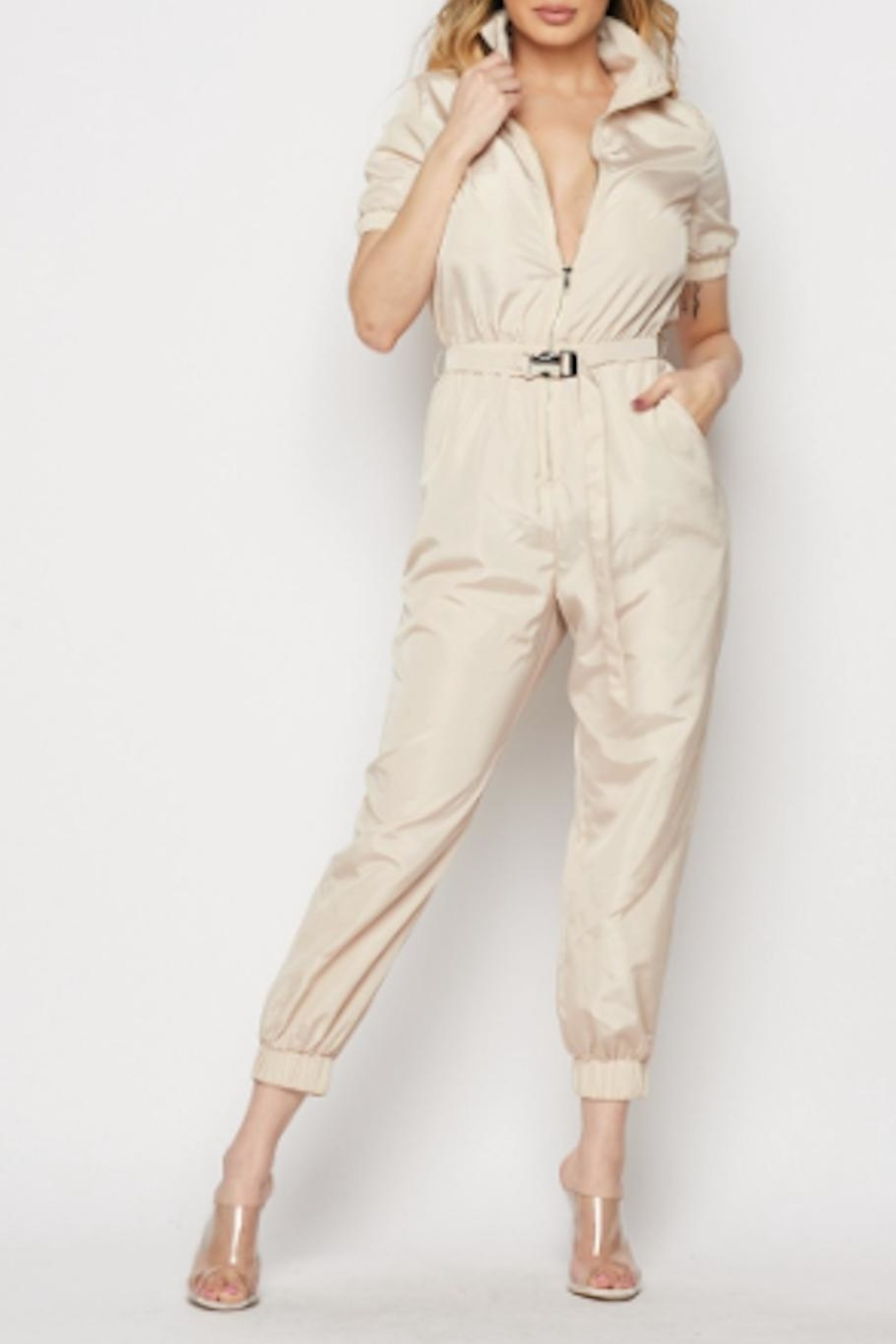 TIMELESS Aviator Jumpsuit - Main Image