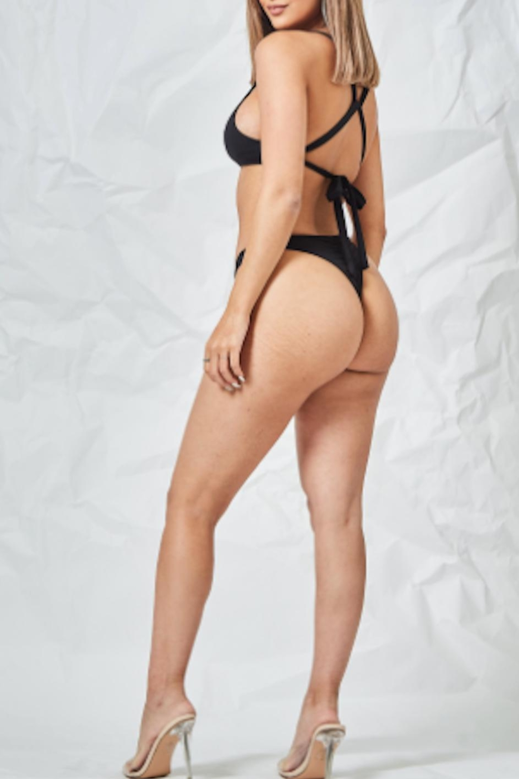 TIMELESS Blacked Out Swimsuit - Front Full Image
