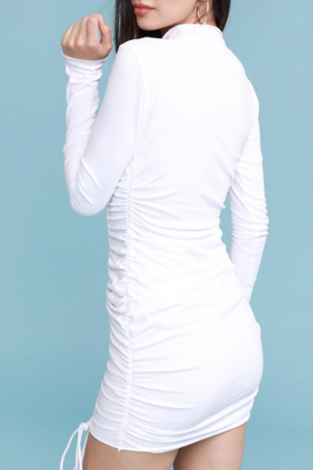 TIMELESS Blanca Ruched Dress - Back Cropped Image