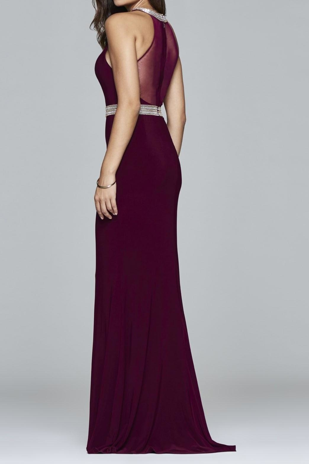 Faviana Timeless Bordeaux Gown - Front Full Image