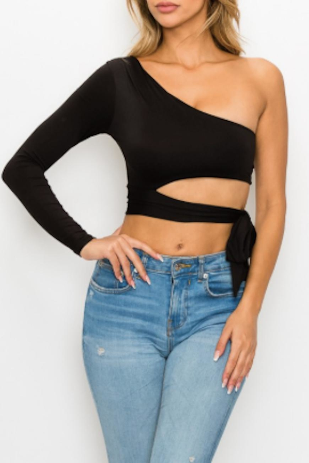 TIMELESS Britney Crop Top - Front Cropped Image