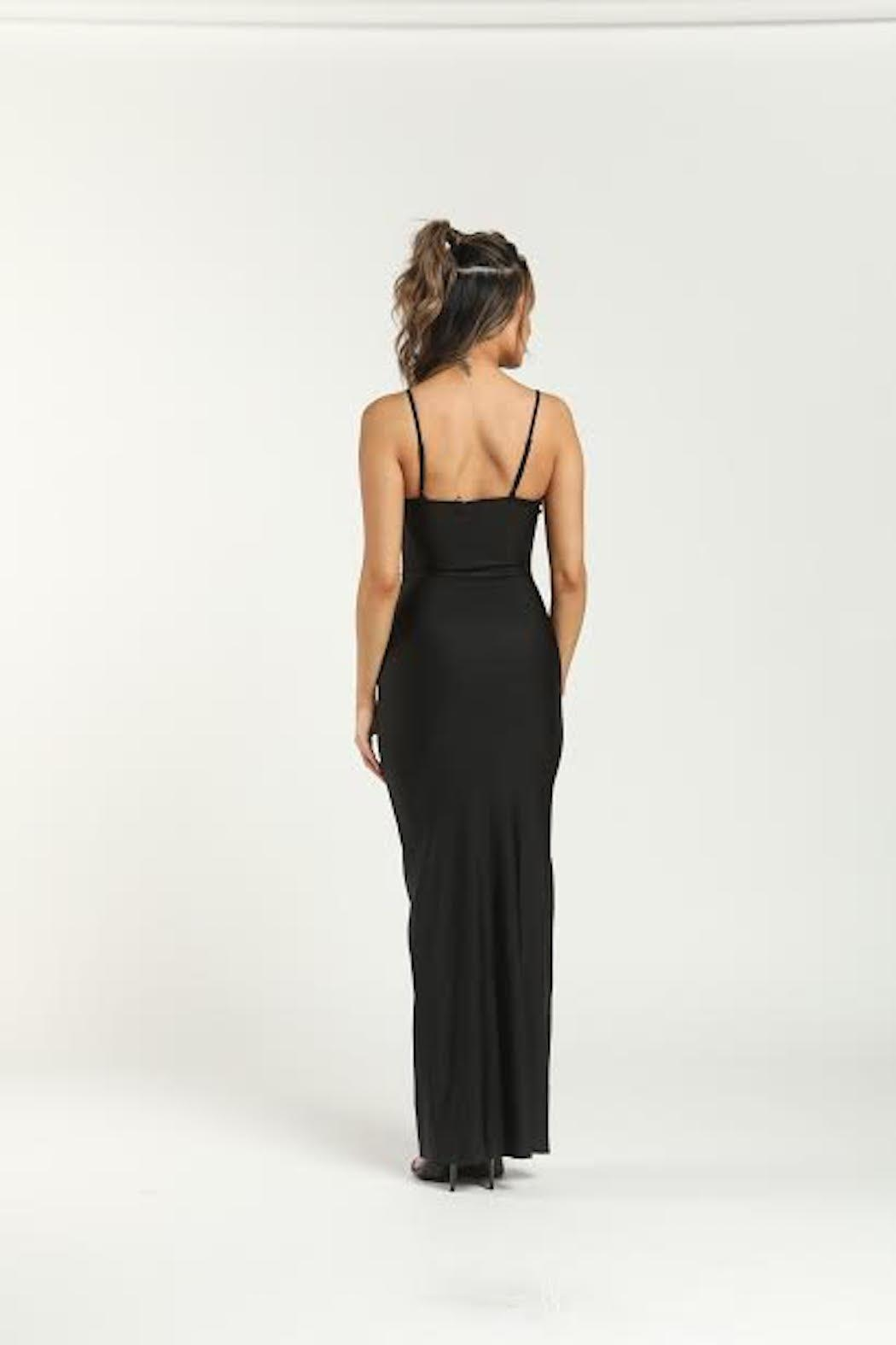 TIMELESS Button Maxi Dress` - Side Cropped Image