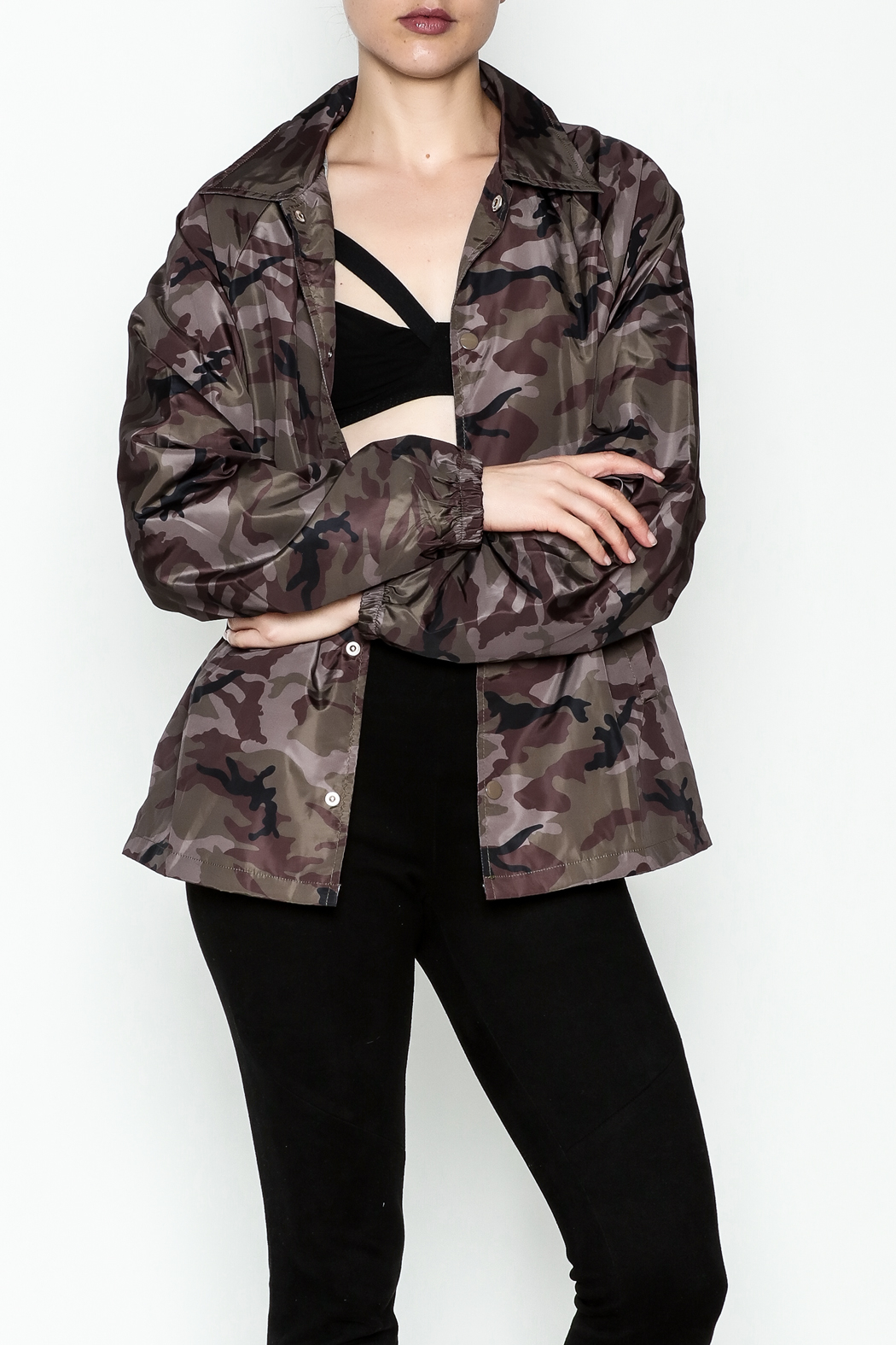 TIMELESS Camo Windbreaker Jacket - Main Image