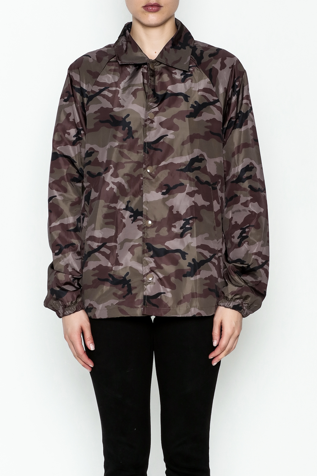 TIMELESS Camo Windbreaker Jacket - Front Full Image