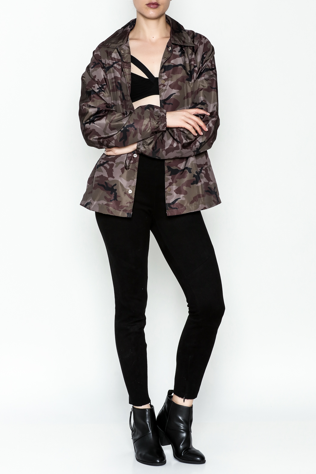 TIMELESS Camo Windbreaker Jacket - Side Cropped Image