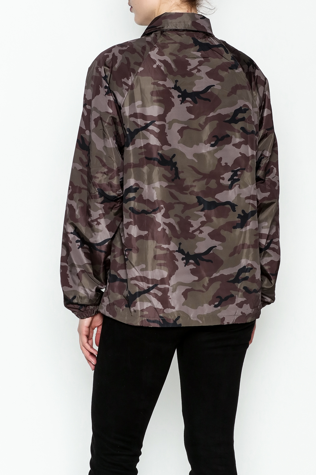 TIMELESS Camo Windbreaker Jacket - Back Cropped Image