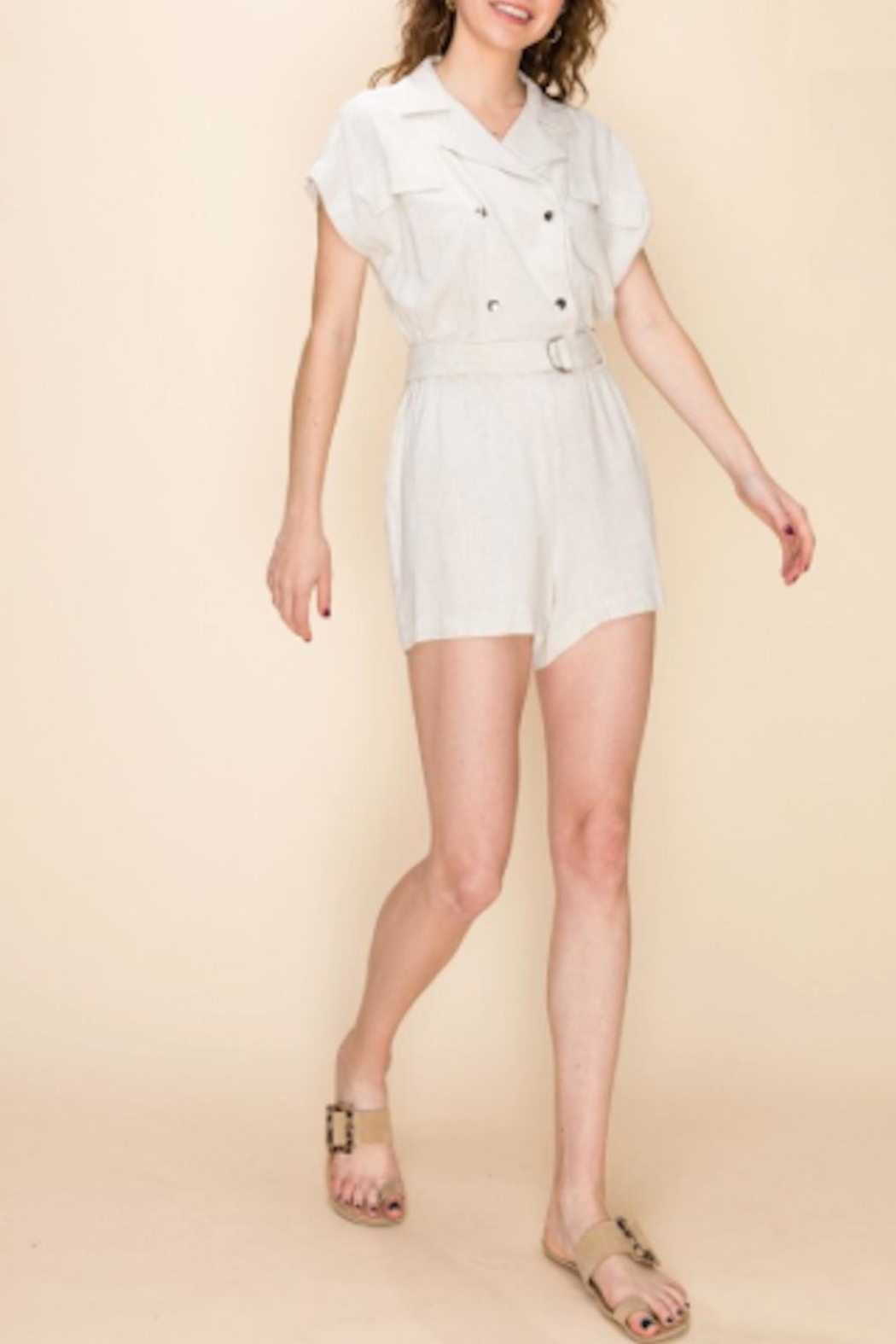 TIMELESS Cargo Romper - Front Cropped Image