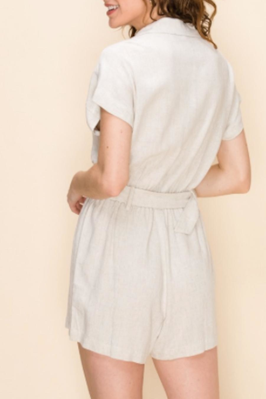 TIMELESS Cargo Romper - Side Cropped Image