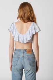 TIMELESS Chambray Stripe Crop - Front full body