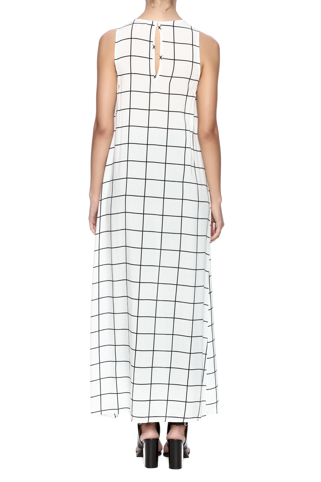 TIMELESS Checker Dress - Back Cropped Image