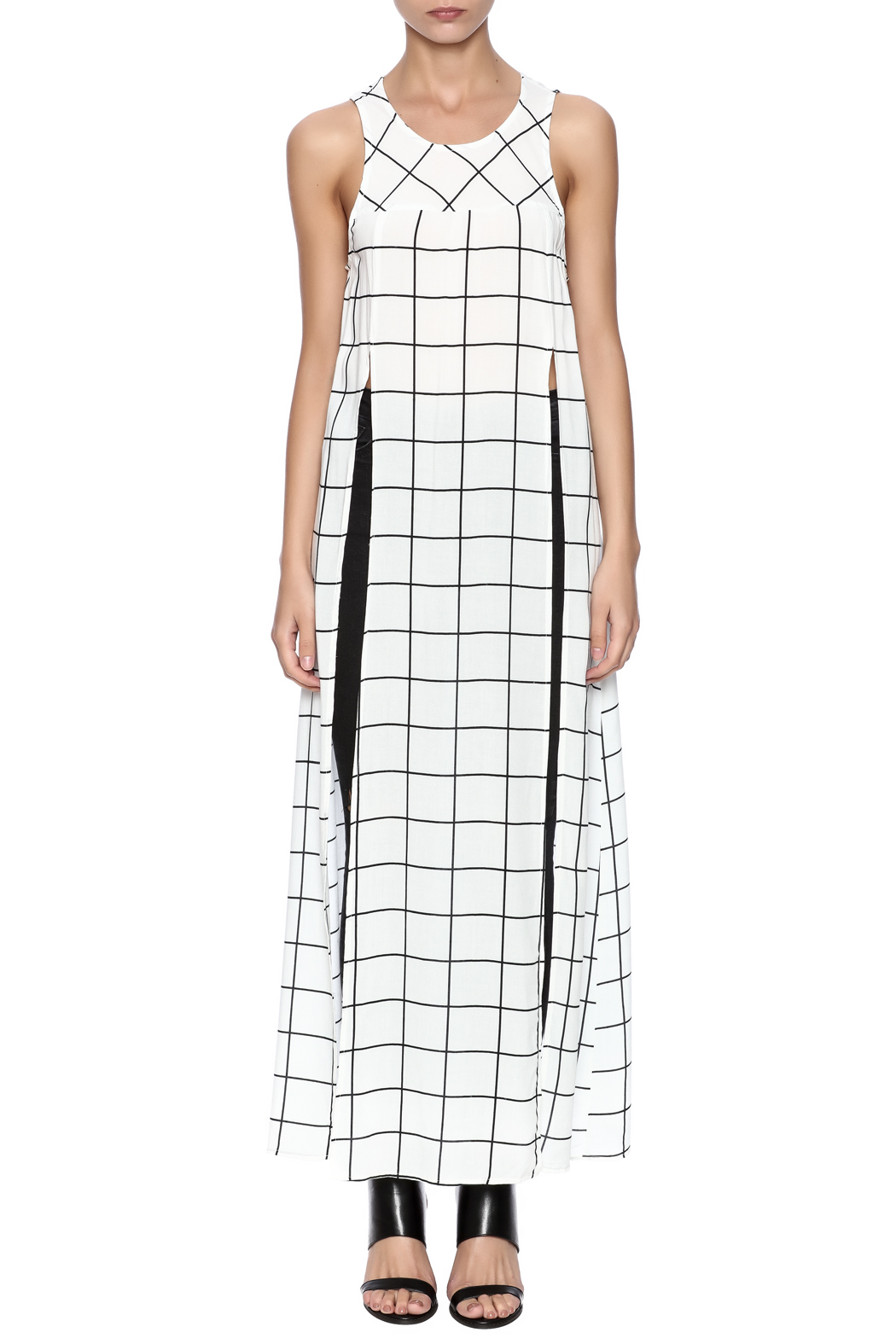 TIMELESS Checker Dress - Front Cropped Image