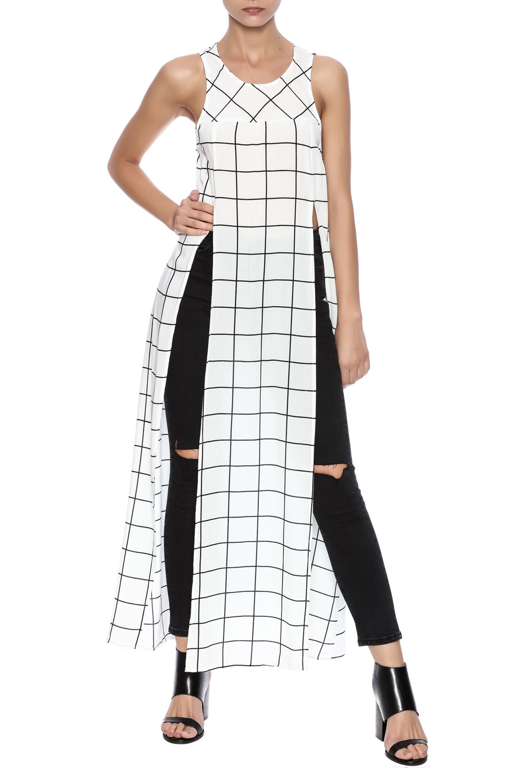 TIMELESS Checker Dress - Front Full Image
