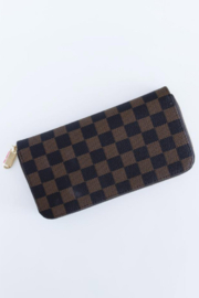 The Emerald Fox Boutique Timeless Checkered Faux Leather Wallet - Product Mini Image