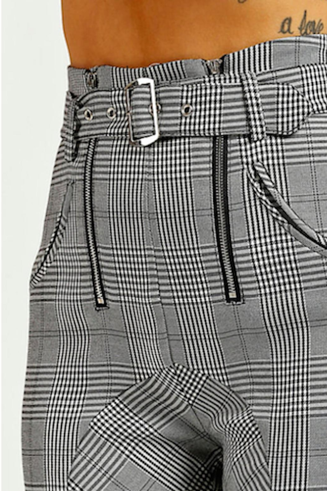 TIMELESS Checkered Pants - Back Cropped Image