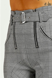 TIMELESS Checkered Pants - Back cropped