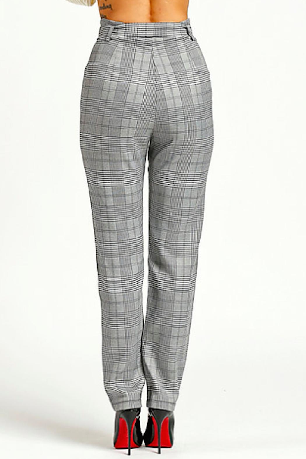 TIMELESS Checkered Pants - Side Cropped Image