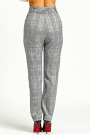 TIMELESS Checkered Pants - Side cropped
