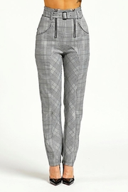 TIMELESS Checkered Pants - Front cropped