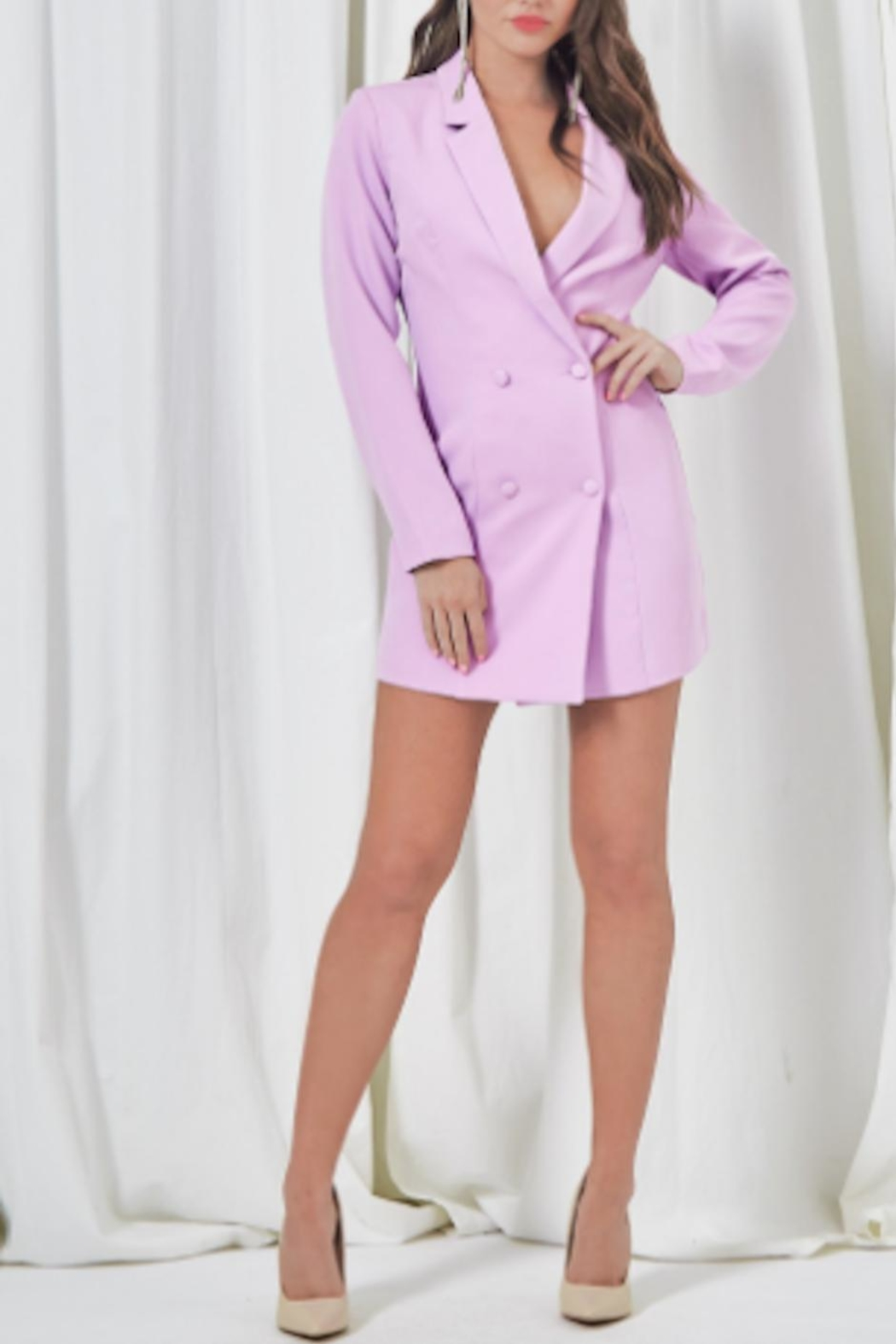 TIMELESS Cher Blazer Dress - Front Cropped Image