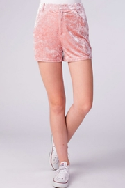 TIMELESS Crushed Velvet Shorts - Front cropped