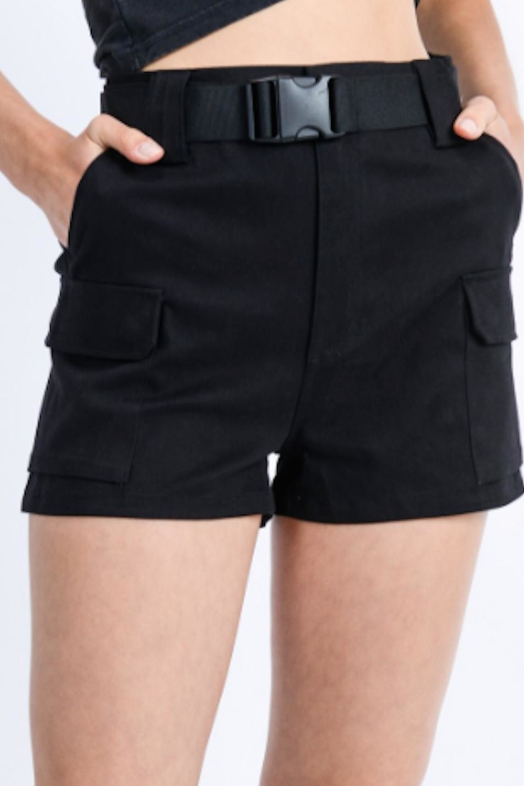 TIMELESS Full Cargo Shorts - Front Cropped Image