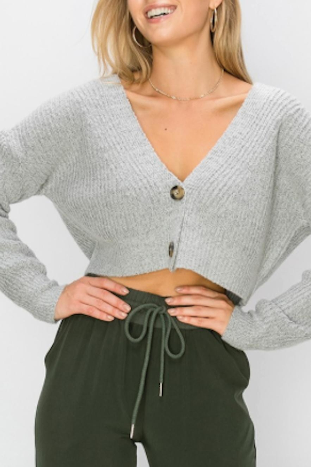 TIMELESS Fuzzy Cardigan - Front Full Image
