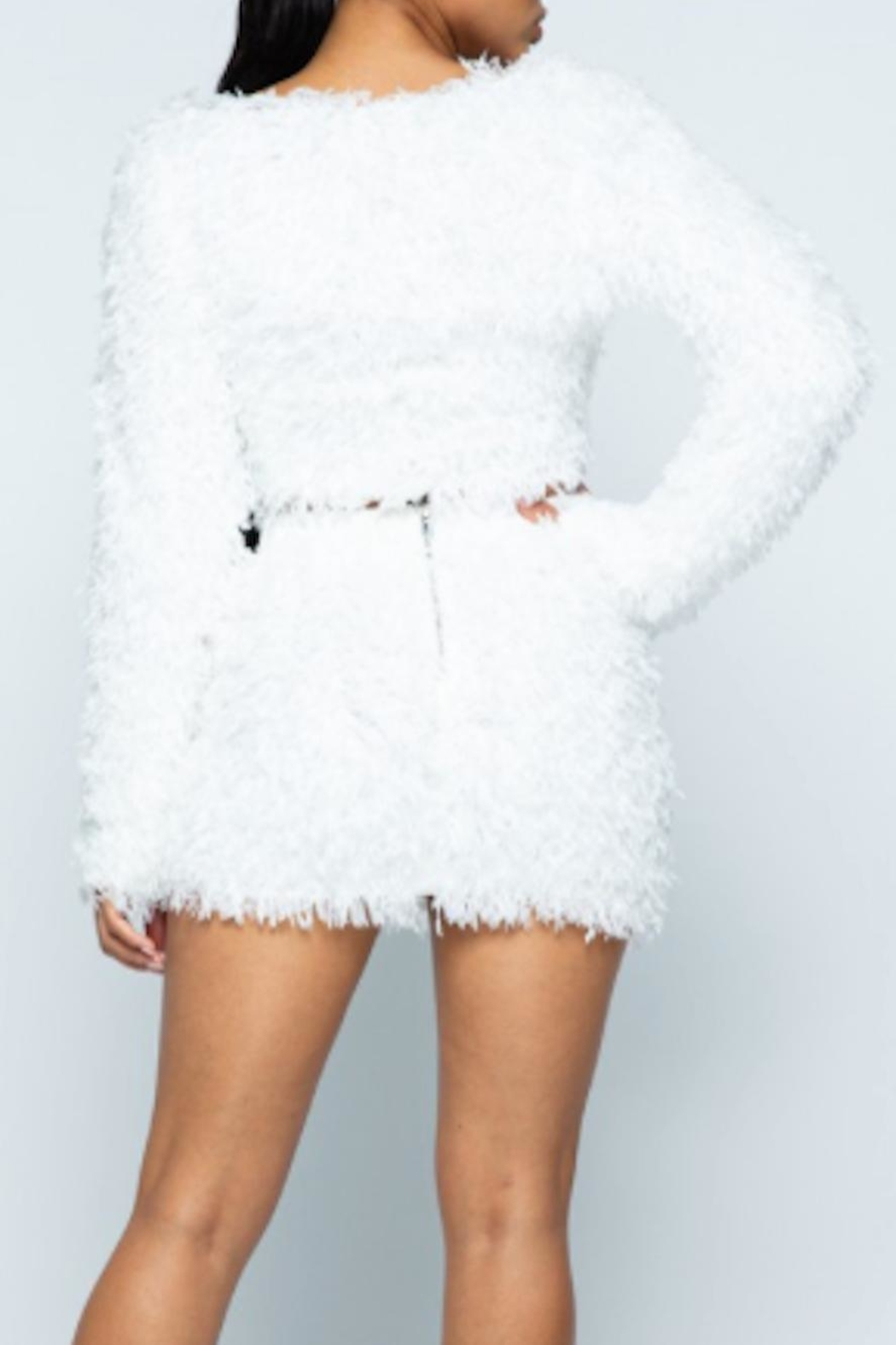 TIMELESS Fuzzy Cardigan - Side Cropped Image