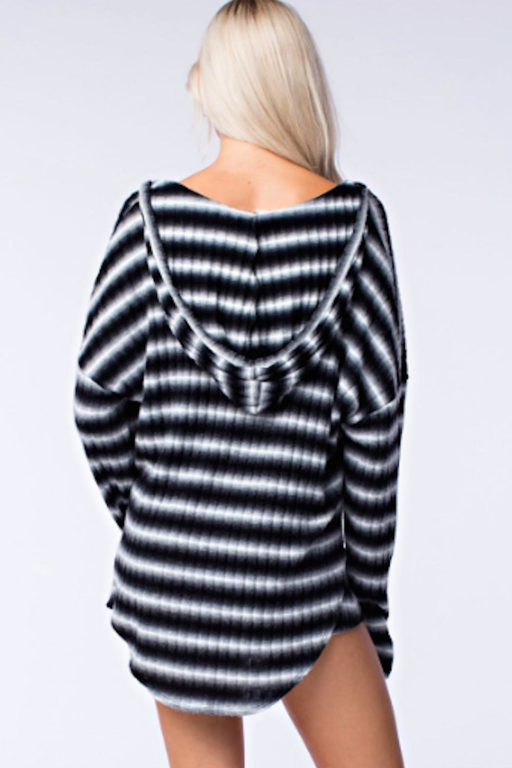 TIMELESS Hoodie Top - Back Cropped Image