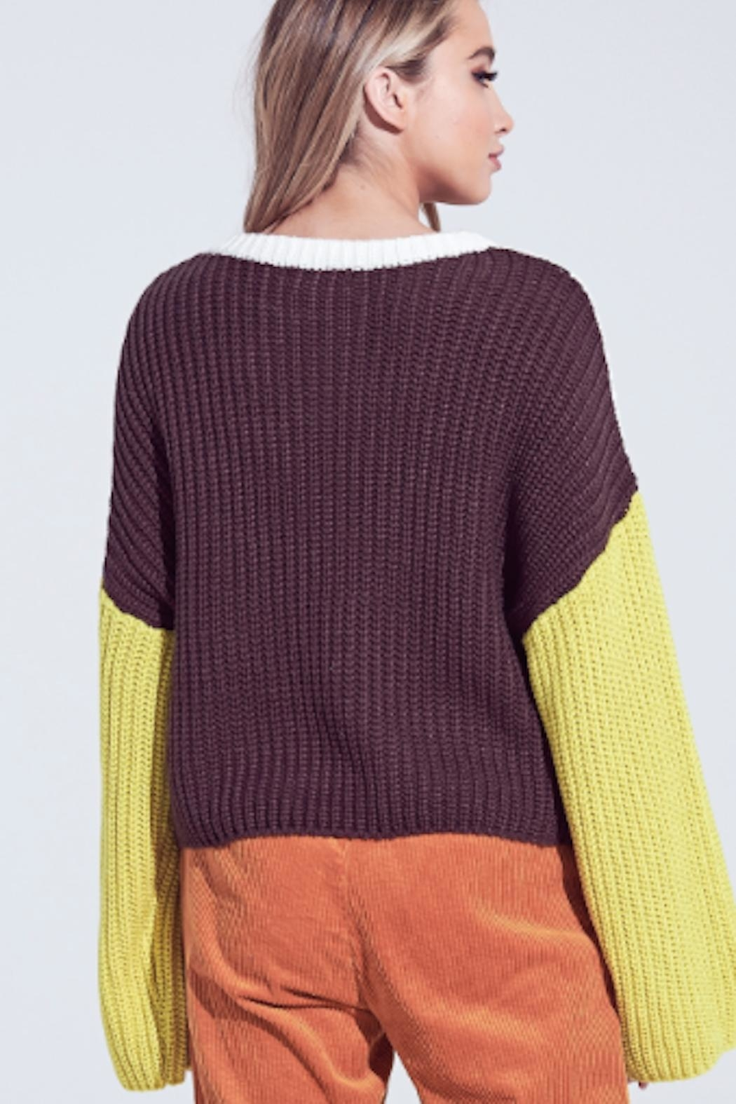 TIMELESS Macaron Sweater - Side Cropped Image