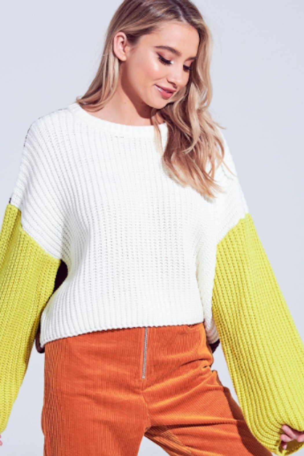 TIMELESS Macaron Sweater - Front Cropped Image
