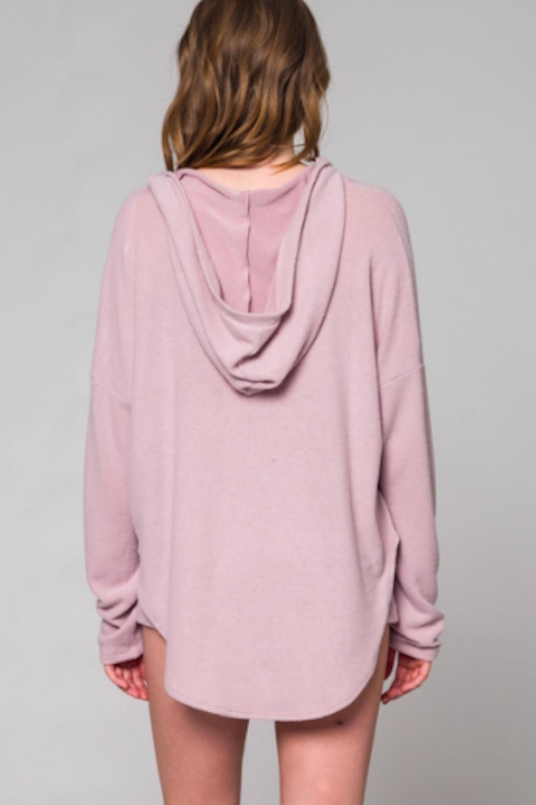 TIMELESS Mauve Hoodie - Front Full Image