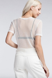 TIMELESS Net Top - Side cropped