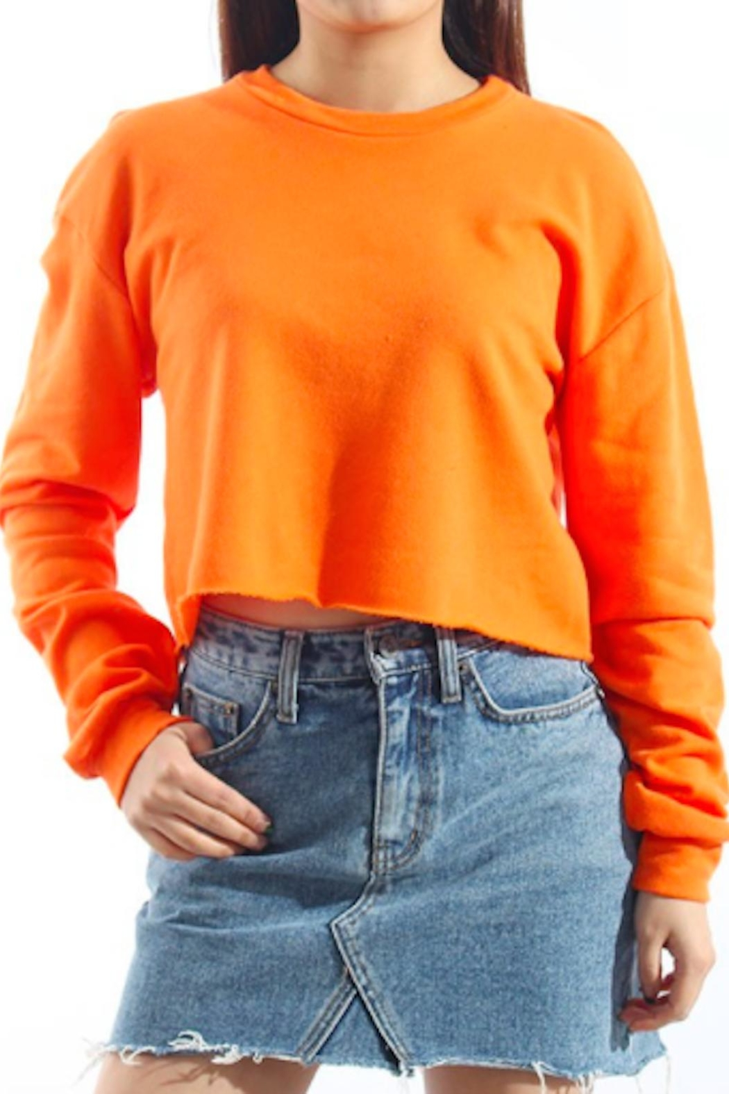 TIMELESS Orange Pullover Top - Front Full Image