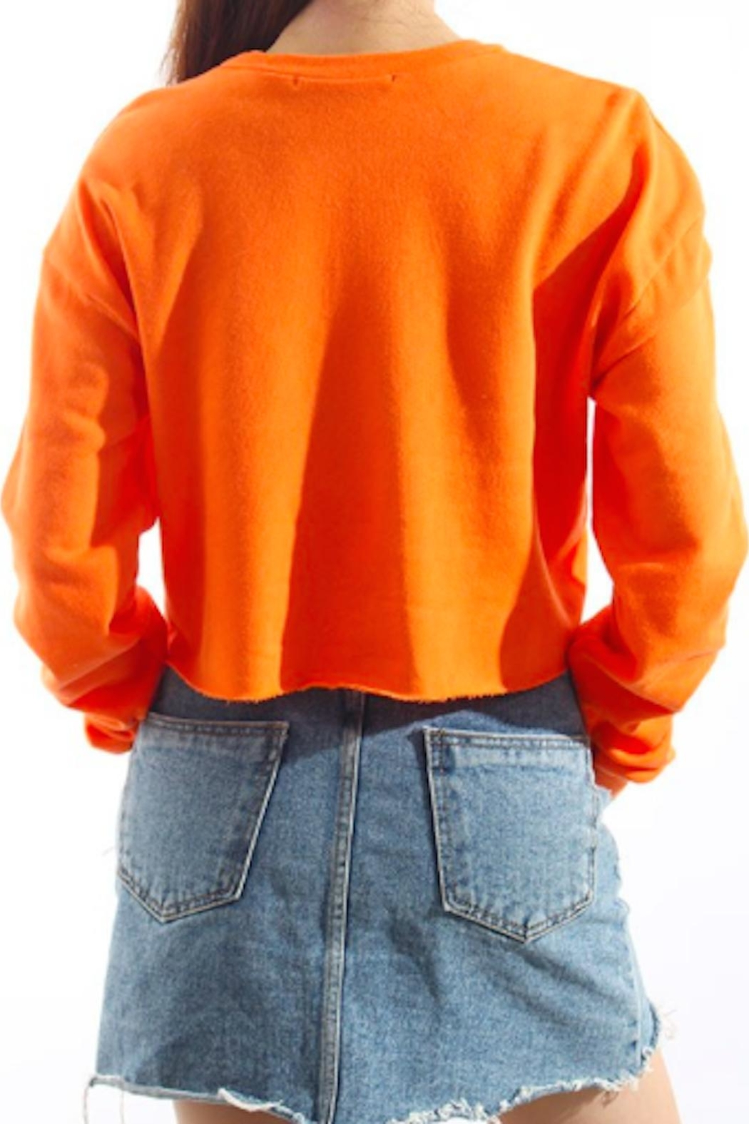TIMELESS Orange Pullover Top - Side Cropped Image
