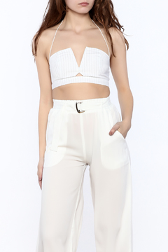 Shoptiques Product: Pinstripe Crop Top