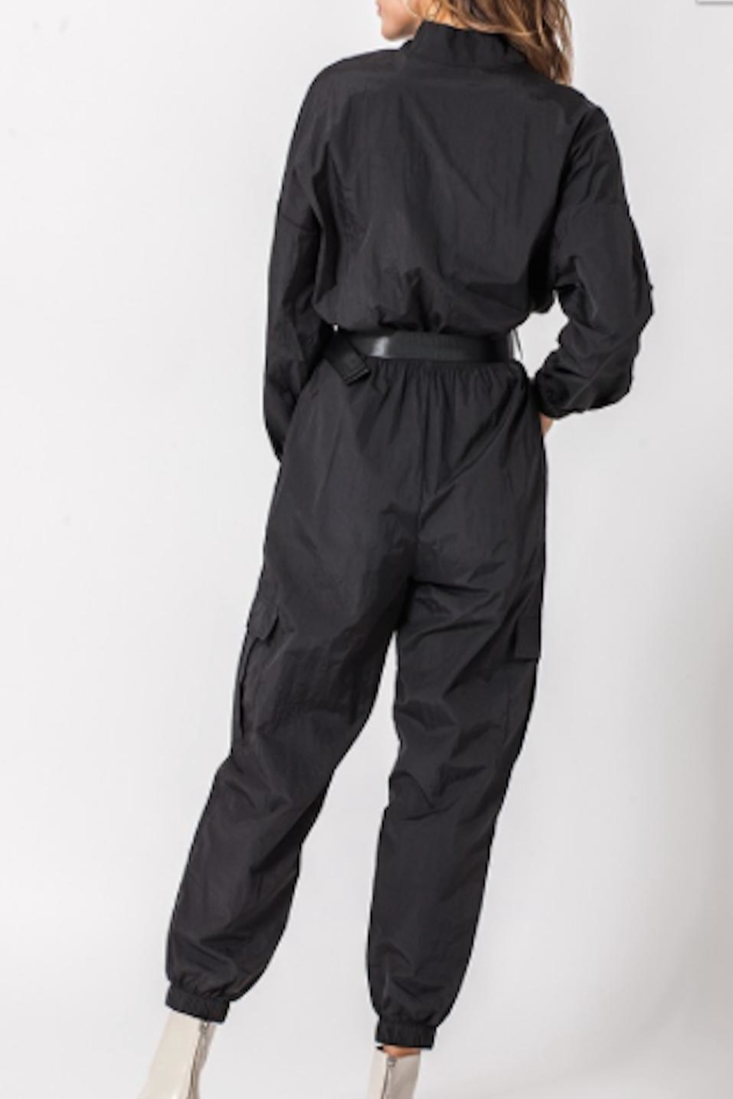 TIMELESS Racer Jumpsuit - Side Cropped Image