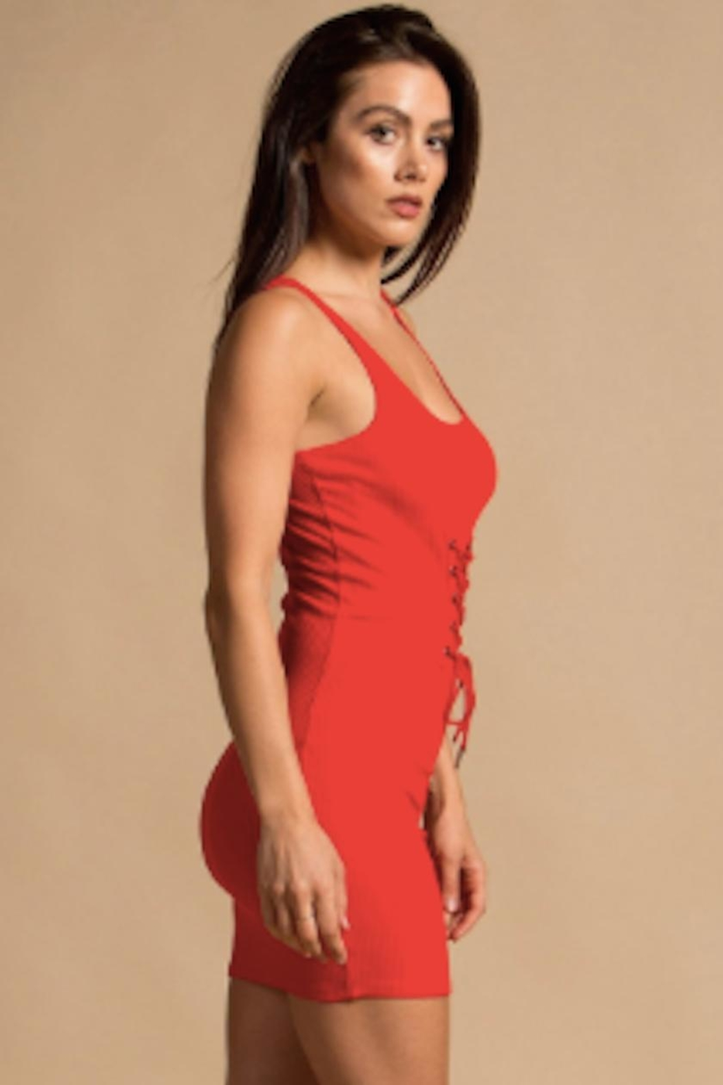 TIMELESS Red Hot Dress - Front Full Image