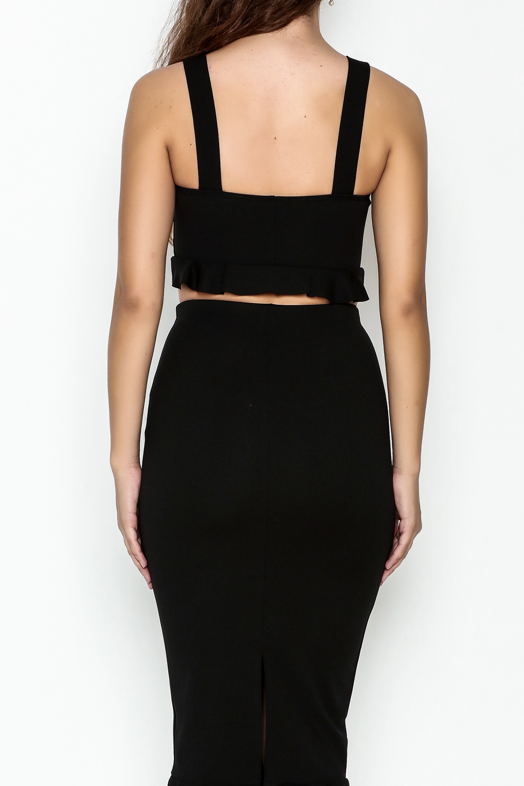 TIMELESS Ruffle Crop Top - Back Cropped Image