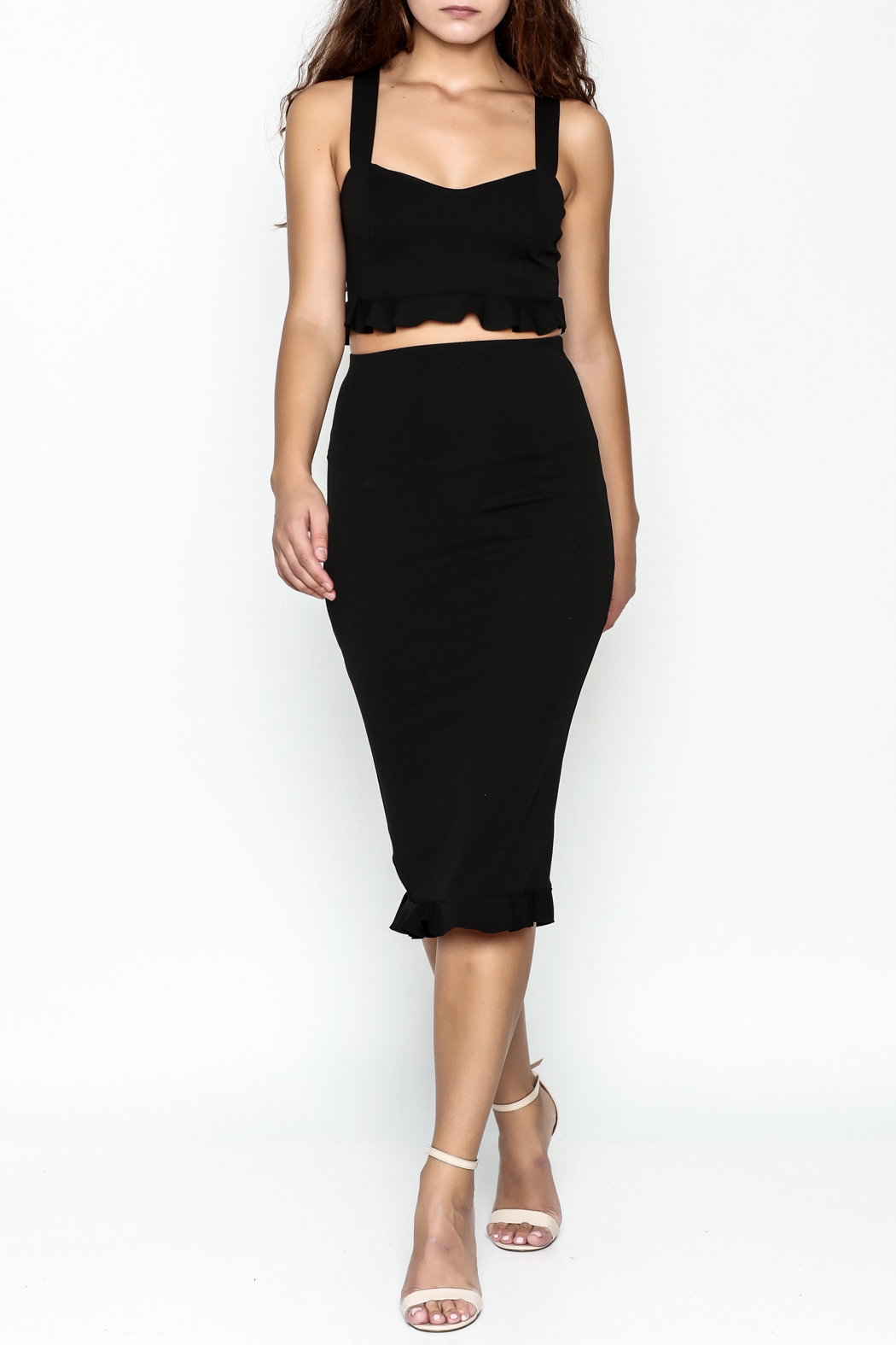 TIMELESS Ruffle Crop Top - Side Cropped Image