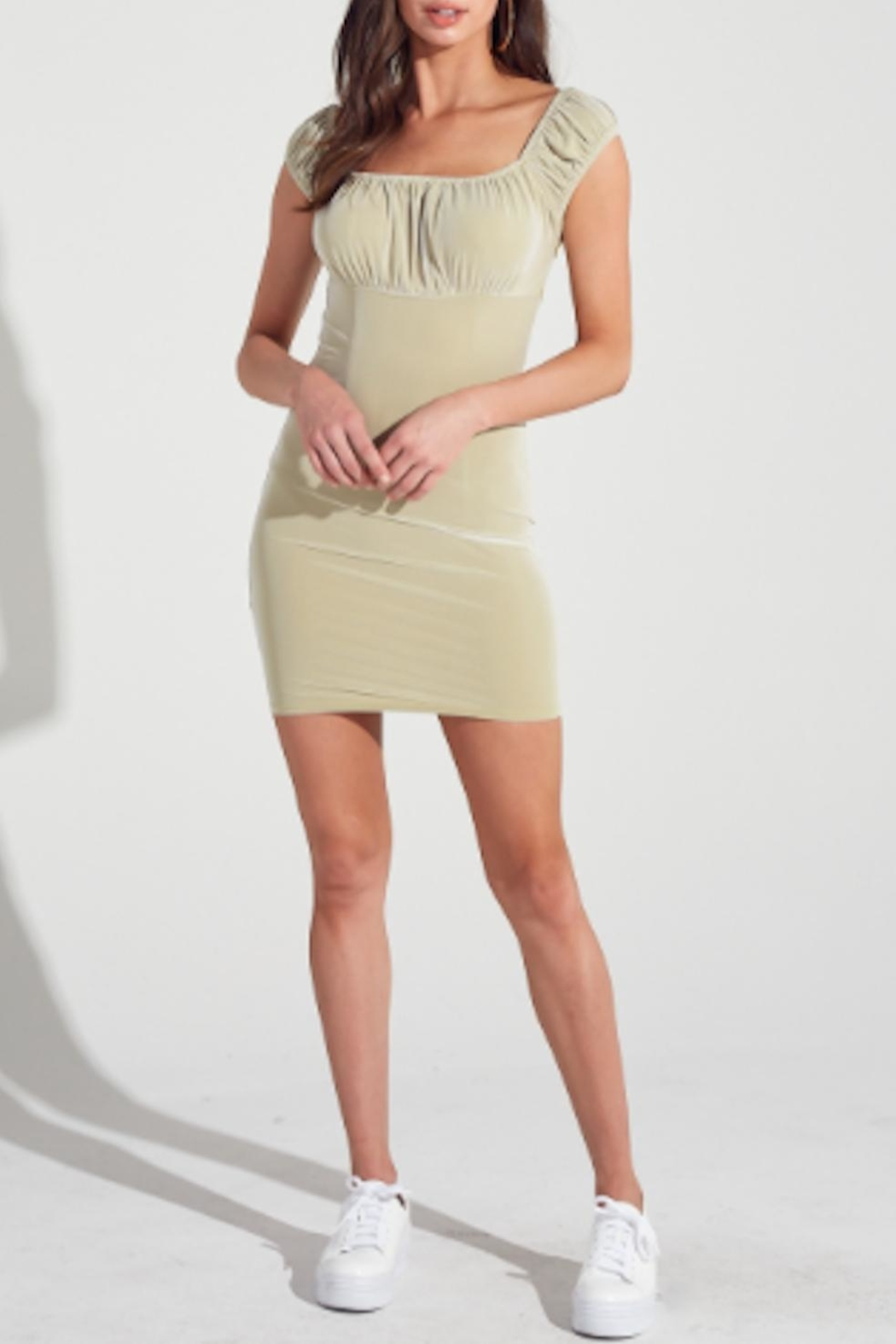 TIMELESS Sage Dress - Front Cropped Image