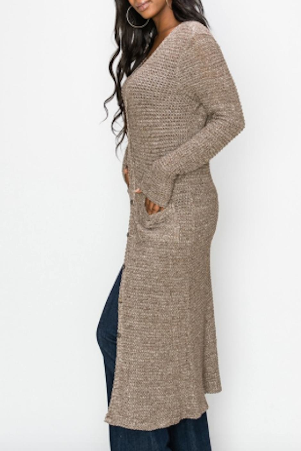 TIMELESS Sand Cardigan - Front Full Image