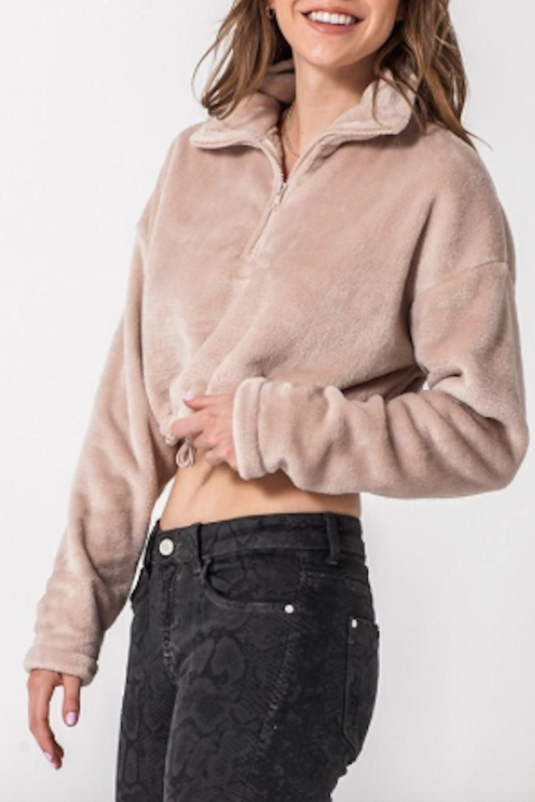 TIMELESS Snuggle Pullover - Front Cropped Image