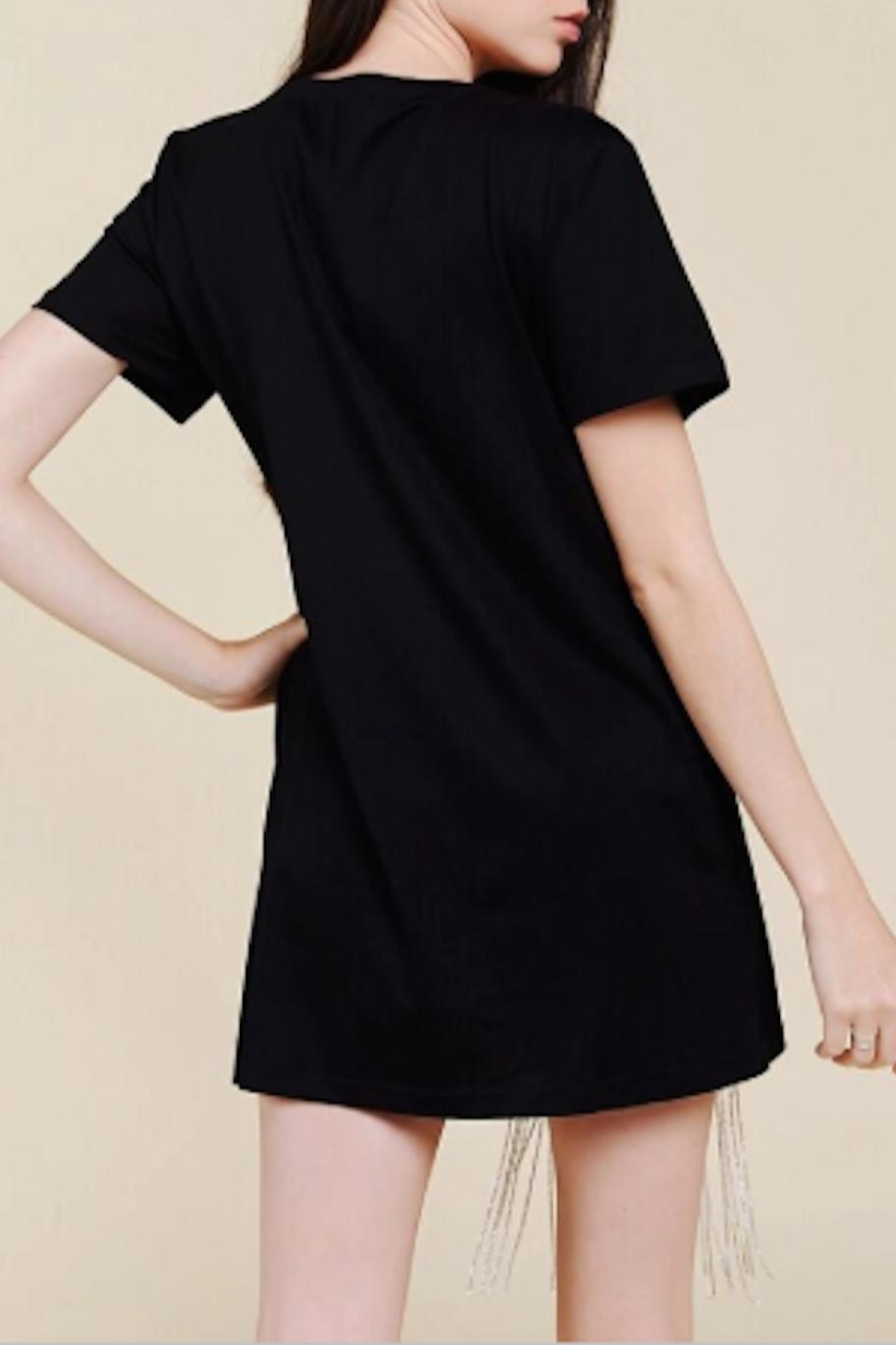 TIMELESS Still Tee Dress - Back Cropped Image