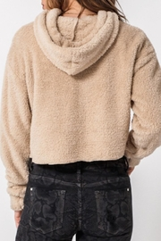 TIMELESS Teddy Cropped Hoodie - Side cropped