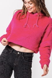TIMELESS Teddy Cropped Hoodie - Front cropped