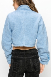 TIMELESS Teddy Cropped Jacket - Back cropped