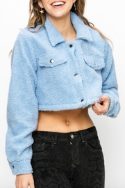TIMELESS Teddy Cropped Jacket - Side cropped