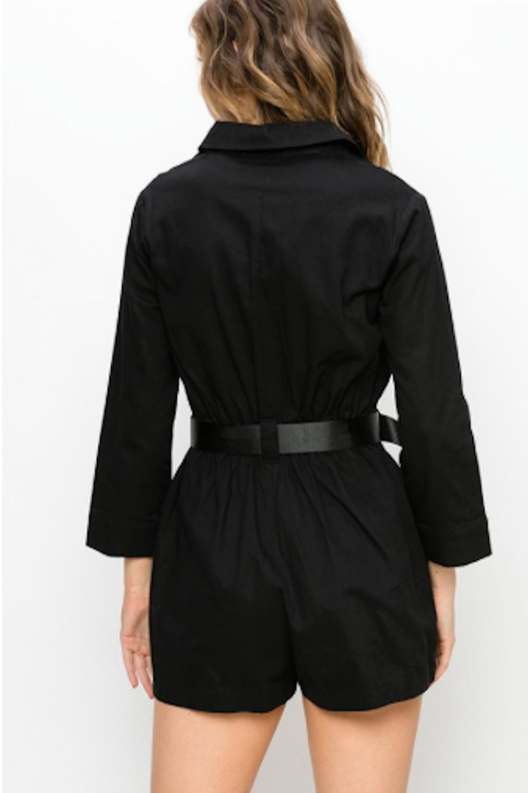 TIMELESS Utility Romper - Side Cropped Image