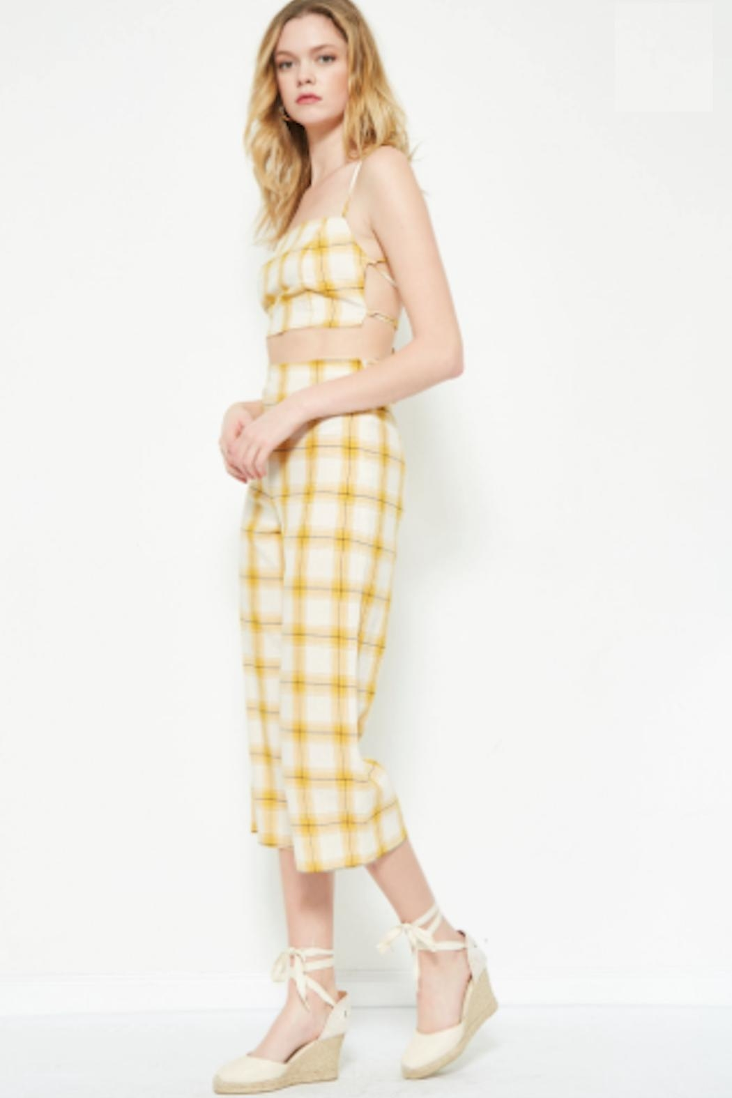 TIMELESS Yellow Plaid Set - Front Full Image