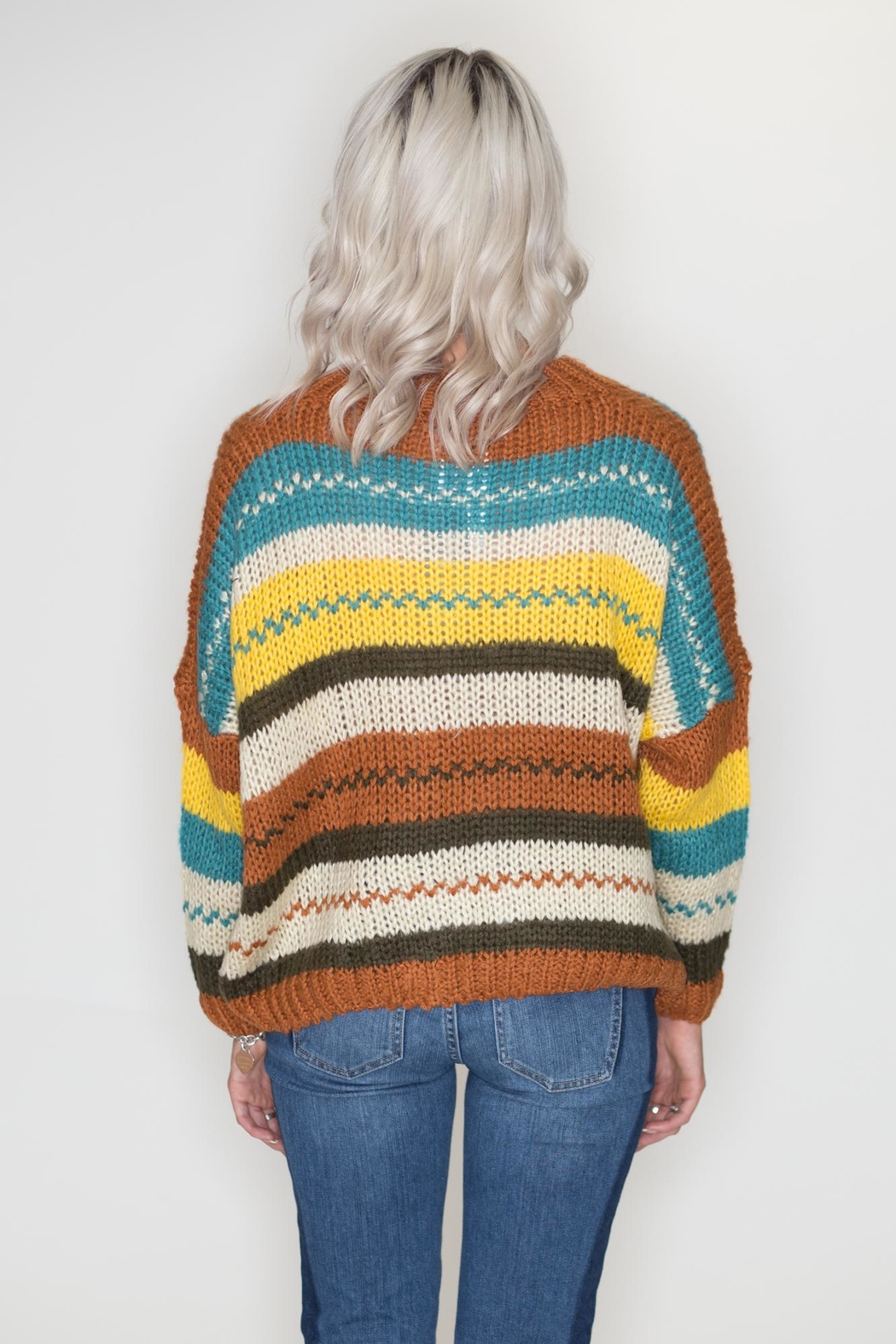 Timing Autumn Striped Sweater - Side Cropped Image